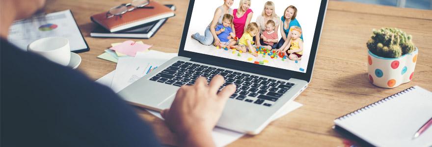 baby-sitter en ligne